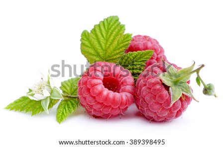 Raspberry isolated on white background.