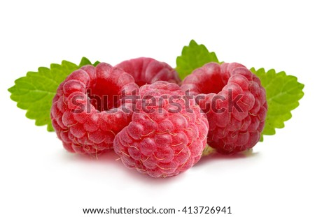 Raspberry isolated on white background. .
