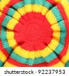 rasta hat hippie background - stock photo