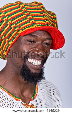 rasta man with traditional hat people diversity series - stock photo