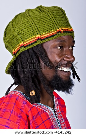 rasta man with traditional hat, people diversity series - stock photo
