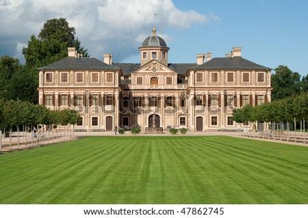 Rastatt baroque castle near Baden Baden - Germany - stock photo