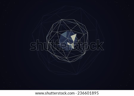 Raster abstract geometry - stock photo