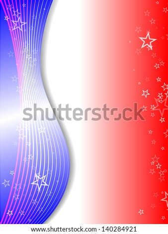 raster abstract red-blue-white background with stars,vector version available - stock photo