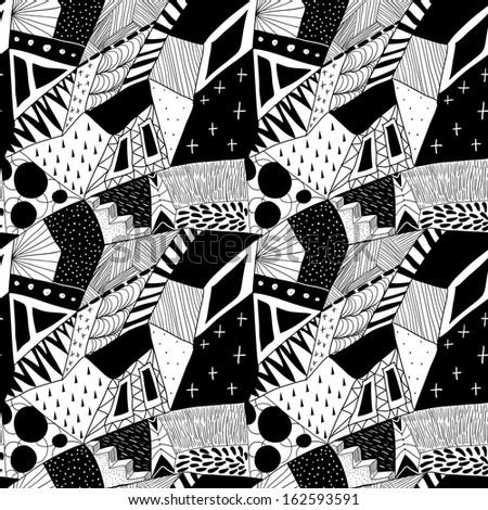 Raster abstract seamless pattern.  - stock photo