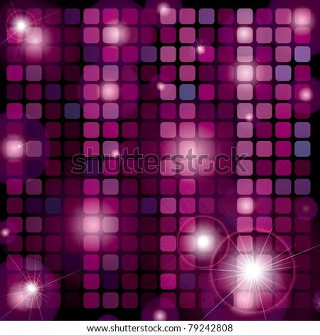 RASTER Background with shining disco-ball pattern - stock photo
