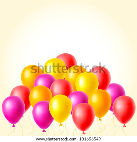 Raster balloons background