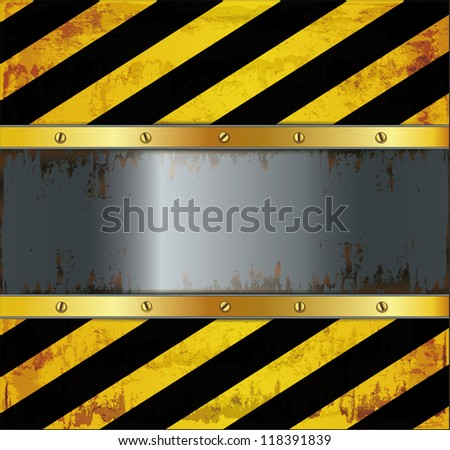 raster blackboard caution board metal rusty