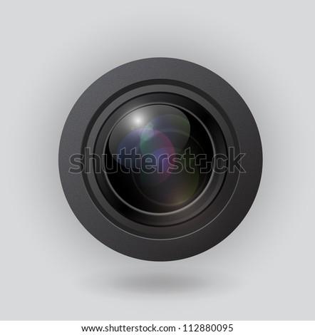 Raster camera lens - stock photo