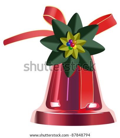 raster christmas decoration on white background, vector version available - stock photo