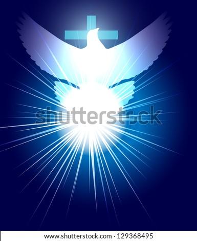 raster conceptual christian illustration, vector version available - stock photo