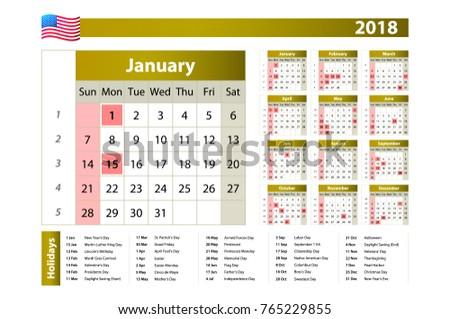 one year calendar