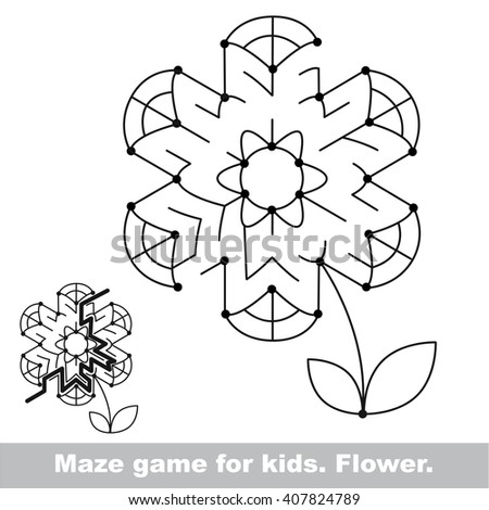 Raster copy. Summer maze game. Search the way. Help to find the solution. Kid labyrinth game. Colorless version. - stock photo