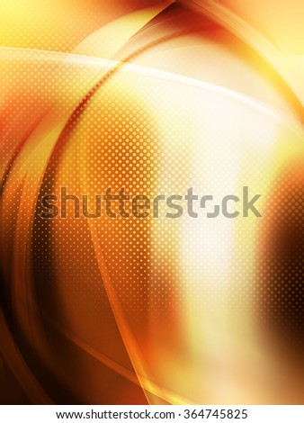 Raster Dots Amazing Gold Abstract Design - stock photo