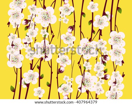 Raster floral background, card or invitation template