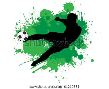 Raster Footballer kicking a ball