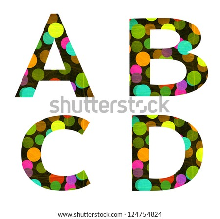 Raster Graphic Design Alphabet Letters