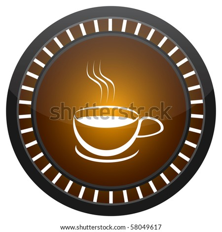 raster illustration coffee button