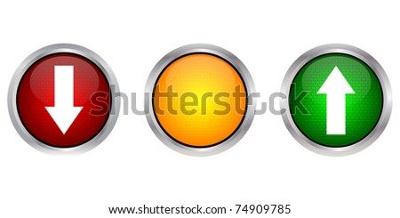 raster illustration download and upload buttons