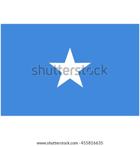raster illustration flag of Somalia icon. Rectangle national flag of Somalia. Somalia flag button - stock photo