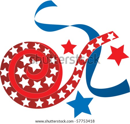 Raster Illustration for the 4th of July Independence. Also available in vector. - stock photo