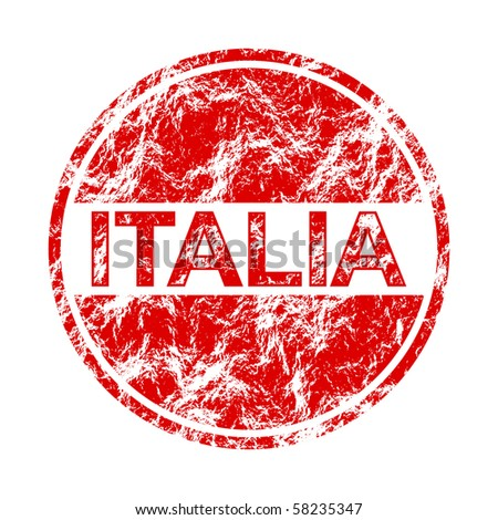 raster illustration italia label