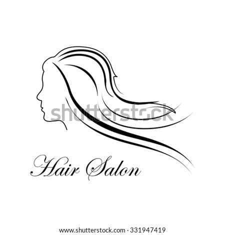 Beauty woman face silhouette profile hair stock vector for Hair salon companies