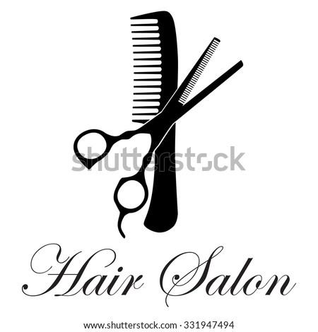raster illustration crossed black silhouette comb stock illustration rh shutterstock com Dumbell Crossed Scissors Logo Pet Grooming Scissors