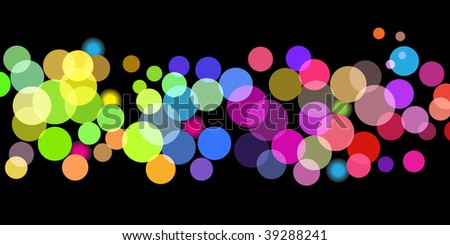 Raster - Illustration of overlapping colorful dots pattern for background abstract