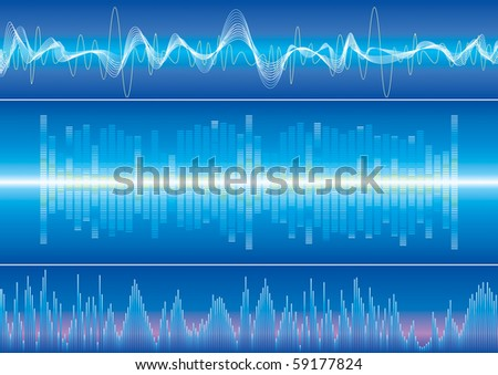 Raster illustration of Sound wave. (Vector version available:13771249) - stock photo