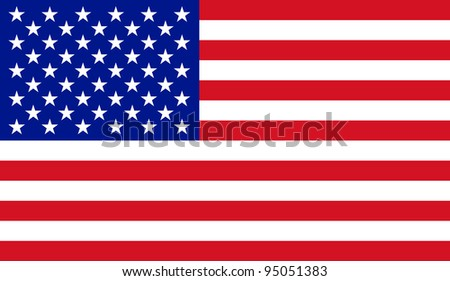 Raster illustration of the USA flag - stock photo