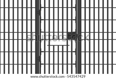 jail bars isolated on white background stock illustration