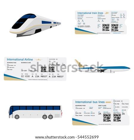Vector Illustration Bus Boarding Pass Ticket Vector – Bus Pass Template