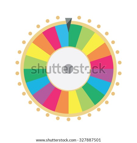 raster illustration wheel of fortune. Lucky spin icon in flat style. - stock photo