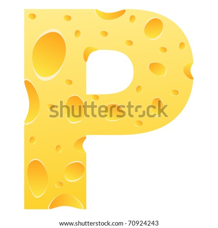 raster image of vector) letter p - stock photo