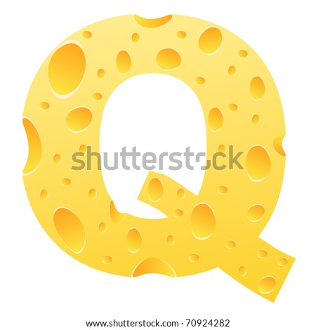 raster image of vector) letter q - stock photo