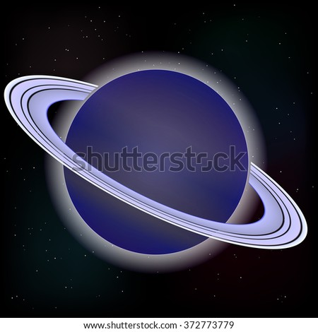 Raster image. Saturn planet on stars 4 - stock photo
