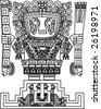 raster mayan and inca tribal symbols - stock photo