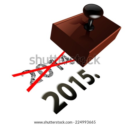 Raster New Year Concept - stock photo