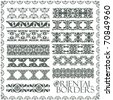 Raster oriental style ornament elements. (vector available in portfolio) - stock vector