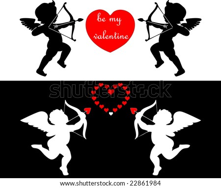 raster pack of valentine card