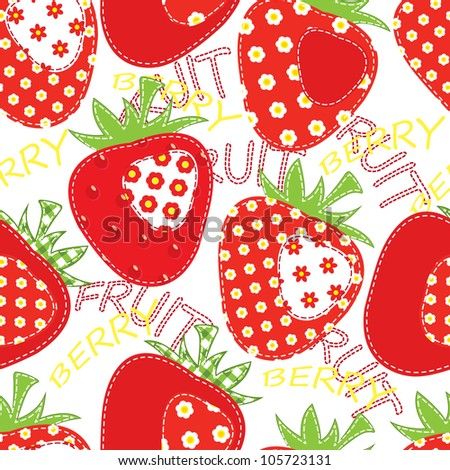 raster patchwork apple seamless - stock photo