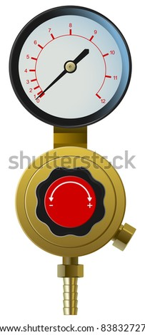 raster realistic pressure controller on white background, vector version available
