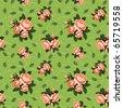 raster: rose seamless background - stock photo