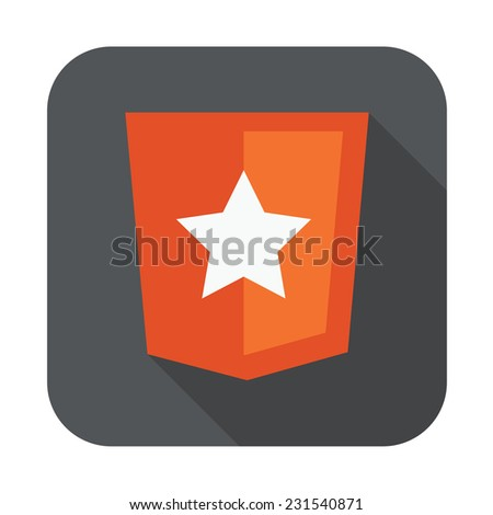 raster round icon of boilerplate html5 template layout - isolated flat design illustration - stock photo