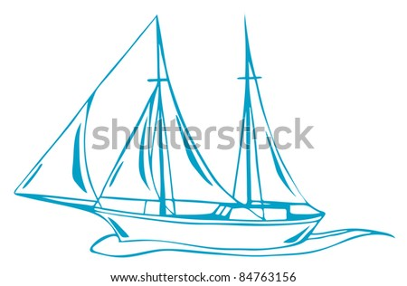 raster - sea voyage (vector version is available in my portfolio) - stock photo