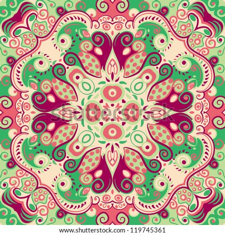 raster seamless colorful seamless floral pattern background