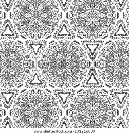 raster seamless grey floral pattern background