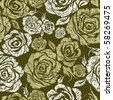 """RASTER Seamless grunge vintage flower rose pattern (from my big """"Seamless pattern collection"""") - stock photo"""