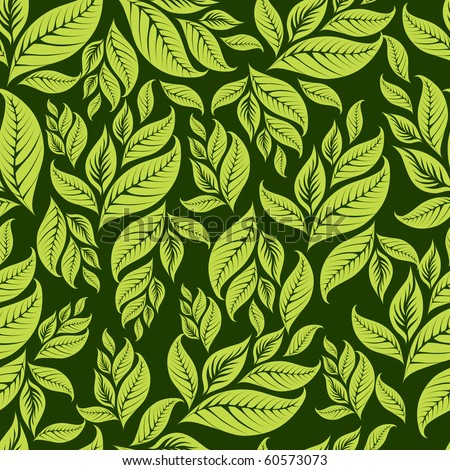 "RASTER Seamless vintage floral pattern with leafs (From my big ""Seamless collection"")"